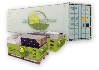 Agriculture Solar Kits Container Shipments