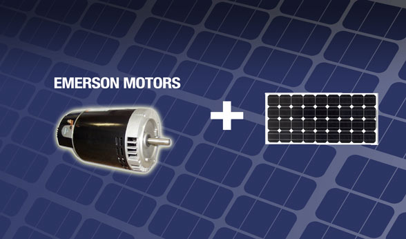 Emerson pump motors solar powered generators for water for Emerson ultratech variable speed motor